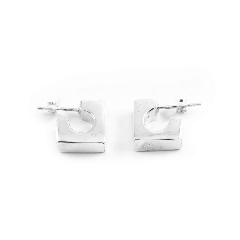 Boucles d'oreilles carrées argent Alia